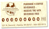 drink punch card